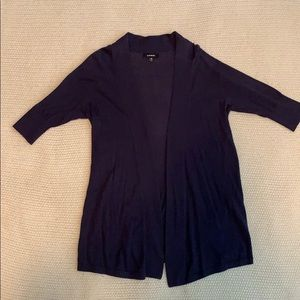 Quarter sleeve, navy, Express cardigan